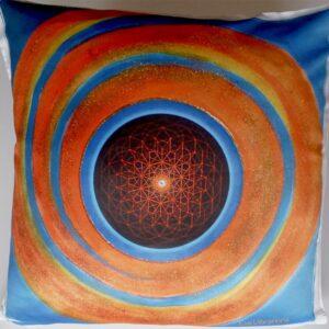 Coussin Fleur de vie solaire