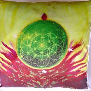 Coussin fleur de vie anahata