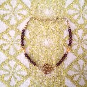 bracelet-arbre-de-vie-doré-grenat.
