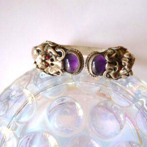 bracelet dragon pierre améthyste