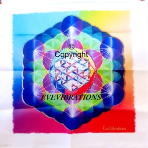 tenture cube métatron multi couleur