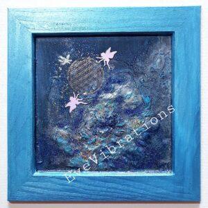 plateau fleur de vie bleue