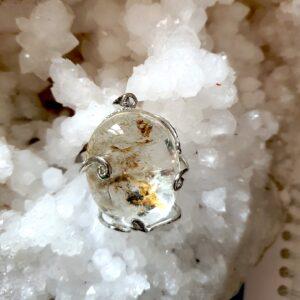 pendentif lodolite birmanie quartz