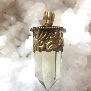 pendentif pierre citrine laiton