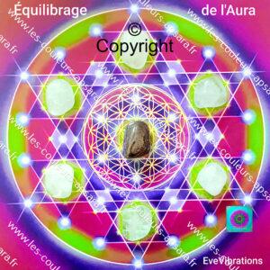 Mandala cristaux équilibrage Aura