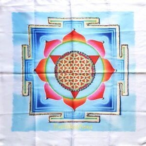 tenture lotus fleur de vie